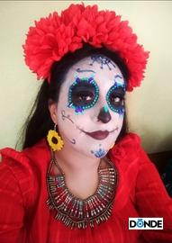 Catrina Floreada #DiaDeMuertosDondeIr