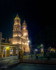 Catedral de Campeche de noche #ViajesDondeIr