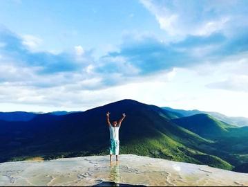 Tocando el cielo, cascadas petrificadas de Hierve el Agua, Oaxaca