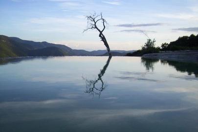 Poza en Hierve el agua.