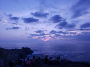 Atardecer en punta cometa, Puerto Escondido, Oaxaca
