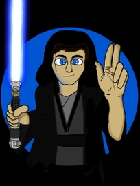 Dibujo digital que hice de Mi como un Jedi!